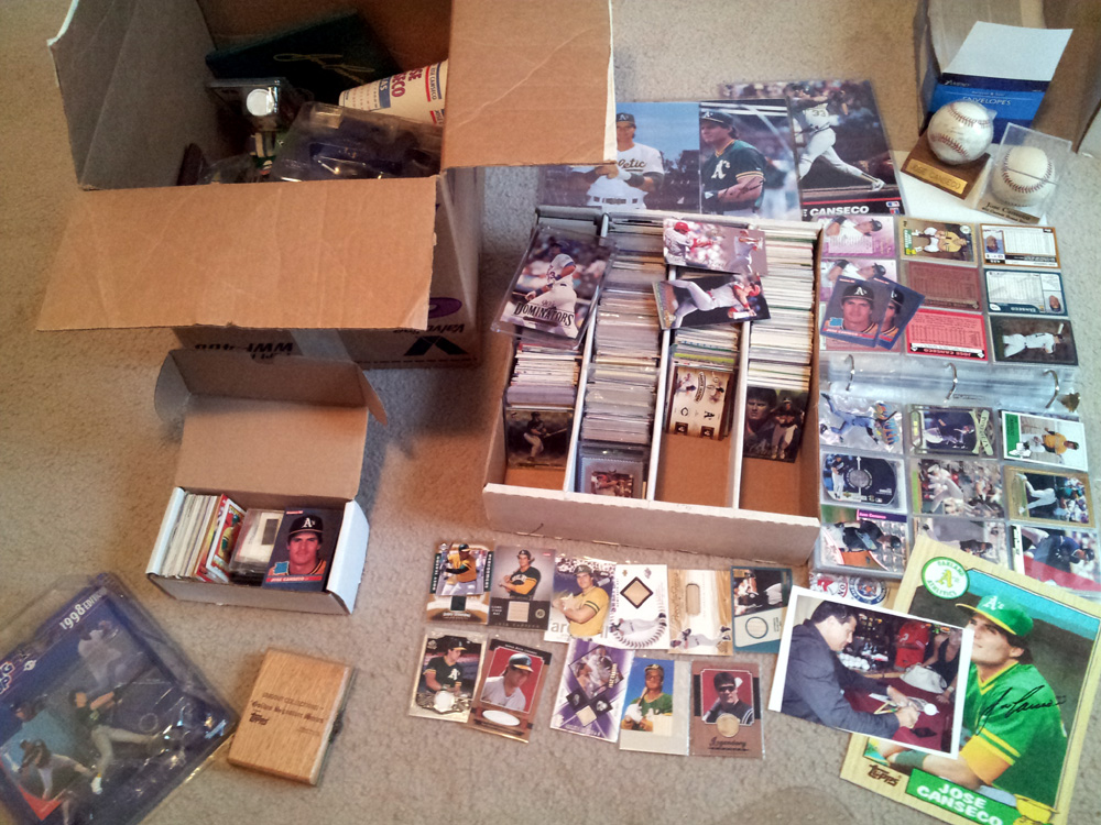 Shown In The Picture Is A Binder That Housed My Canseco Collection As Child Which Son Commandeered Years Ago To Store His Cards